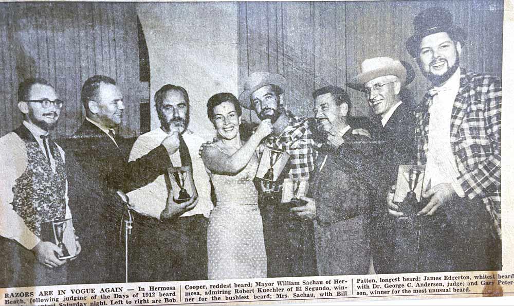 1912 Days Beard Contest. Daily Breeze 1957